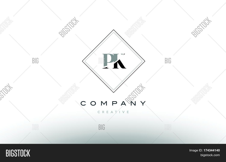Pk P K Retro Vintage Vector Photo Free Trial Bigstock