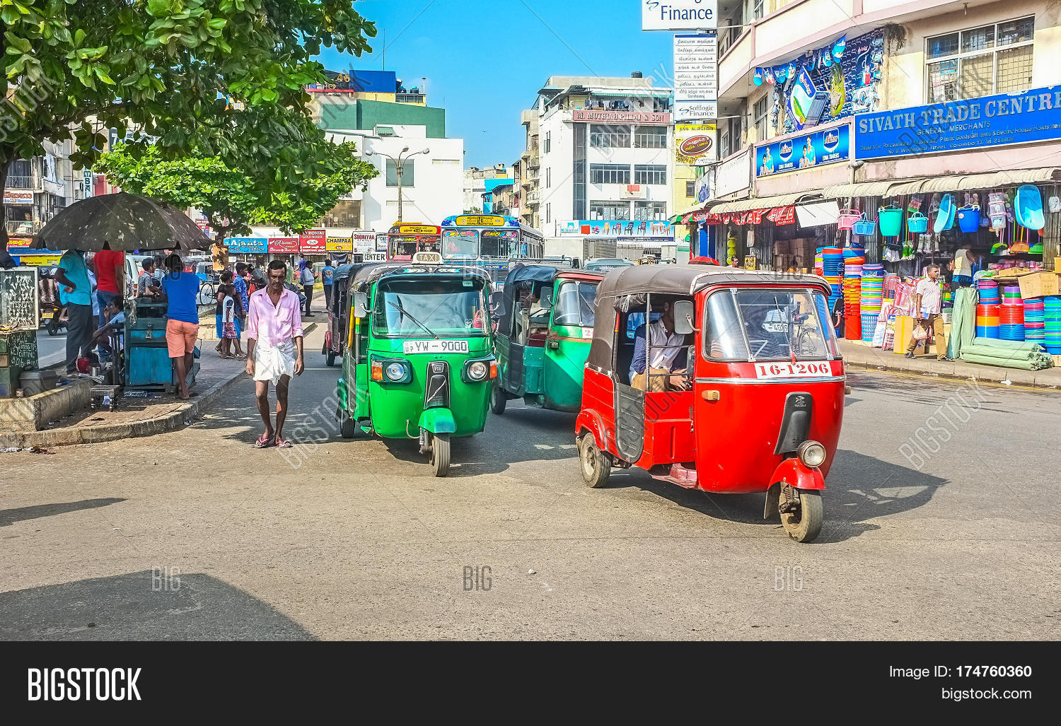 Traffic Colombo Image Photo Free Trial Bigstock
