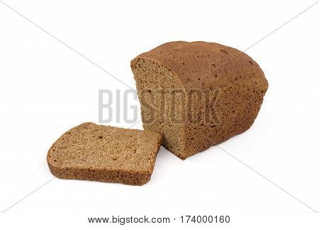 loaf of bread russian isolated on white