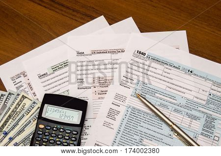 U.s. Individual Income Tax Return. Tax 1040