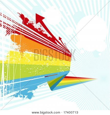 grunge style colorful background vector