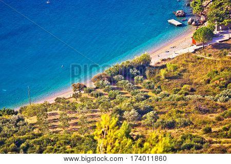Famous Beach In Bol Aerial View