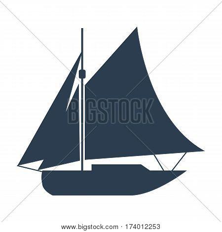 Ship Icon On White Background.