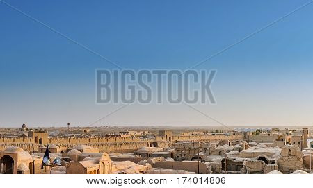 View over Ghoortan citadel by Varzaneh in Isfahan province Iran