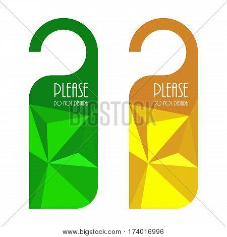 Door Hanger, Do Not Disturb Sign With Triangle Design