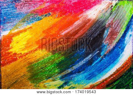 colorful oil pastels drawing texture for background