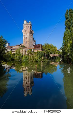 Galileo Astronomical Observatory La Specola Tower in Padova Italy - architecture background