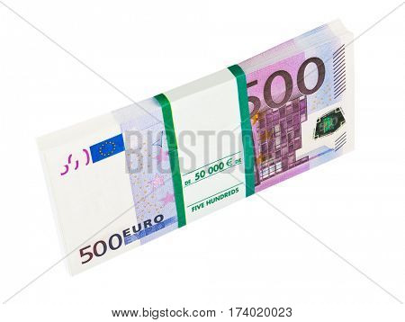 Money pack isolated on white background