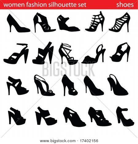 fashion ,women shoes silhouette