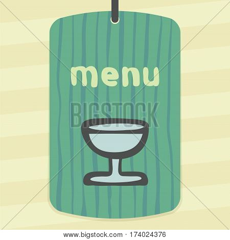 Vector outline wine glass goblet icon on label with hand drawn striped background. Elements for mobile concepts and web apps. Modern infographic logo and pictogram.