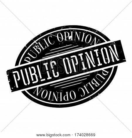 Public Opinion rubber stamp. Grunge design with dust scratches. Effects can be easily removed for a clean, crisp look. Color is easily changed.