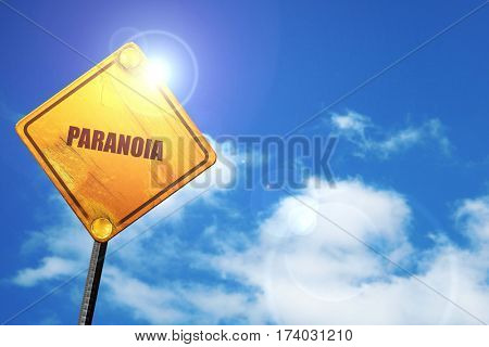 paranoia, 3D rendering, traffic sign