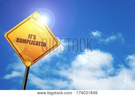 its complicated, 3D rendering, traffic sign