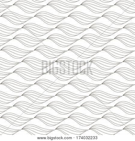 The geometric pattern of abstract leaves. Seamless background vector illustration