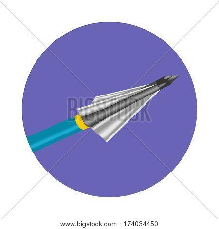 Bow arrow vector icon a flat style.