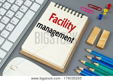 Facility management, Text message on white paper