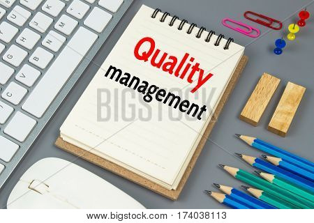 Quality management, Text message on white paper