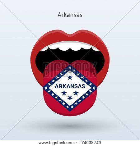Electoral vote of Arkansas. Abstract mouth. Vector illustration.