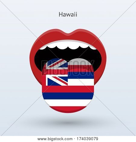 Electoral vote of Hawaii. Abstract mouth. Vector illustration.