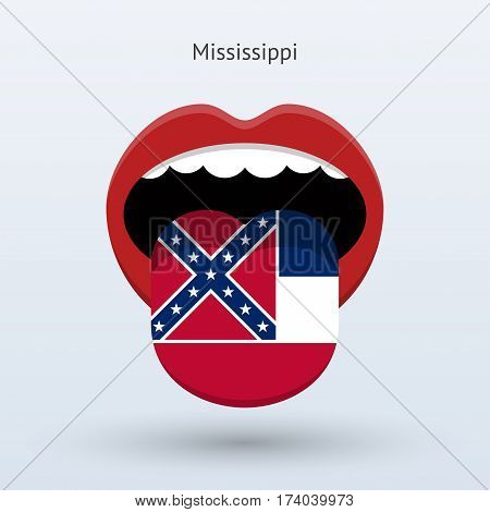 Electoral vote of Mississippi. Abstract mouth. Vector illustration.