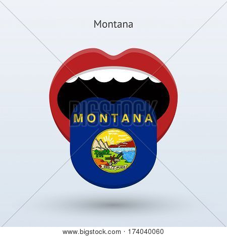 Electoral vote of Montana. Abstract mouth. Vector illustration.