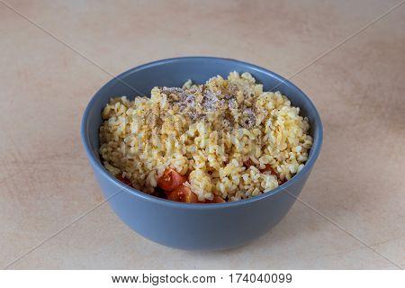 Ingredients For Tabbouleh Green Salad. Healthy Food And Vegetarian