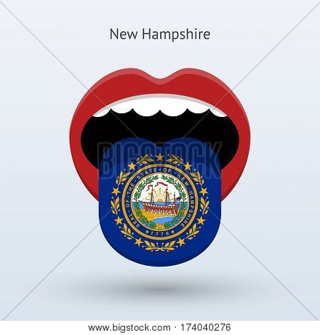 Electoral vote of New Hampshire. Abstract mouth. Vector illustration.