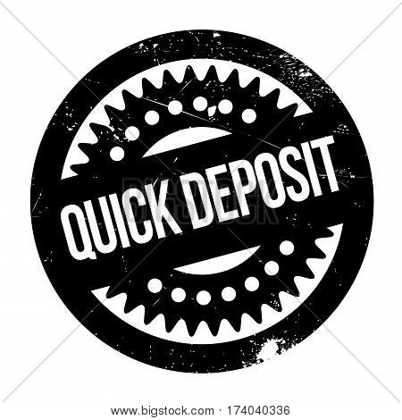 Quick Deposit rubber stamp. Grunge design with dust scratches. Effects can be easily removed for a clean, crisp look. Color is easily changed.