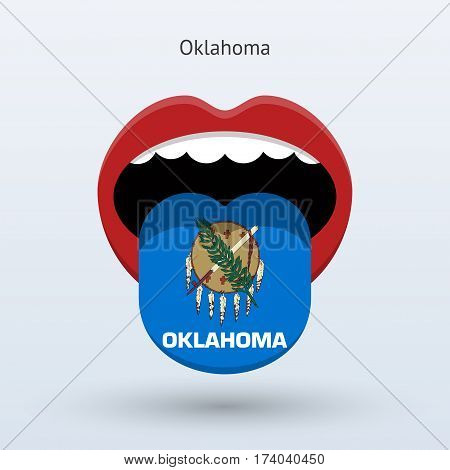 Electoral vote of Oklahoma. Abstract mouth. Vector illustration.