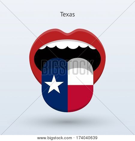 Electoral vote of Texas. Abstract mouth. Vector illustration.