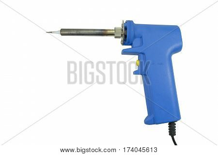 soldering iron isolated on a white background