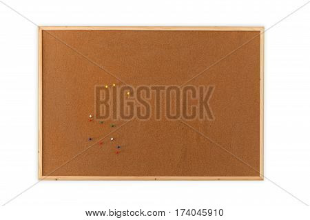 Blank Cork board with pin for design