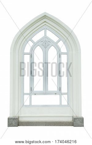 Vintage window on white background object fot design