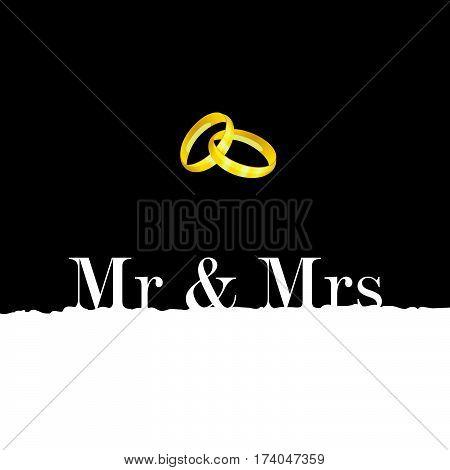 Wedding Rings Metal Gold Illustration