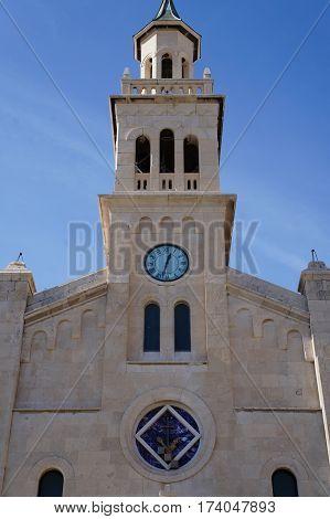 Saint Franje (Francis) church near the old Market Square in Split, Croatia