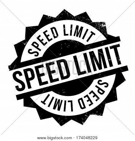 Speed Limit rubber stamp. Grunge design with dust scratches. Effects can be easily removed for a clean, crisp look. Color is easily changed.