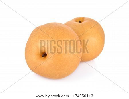 whole snow pear or Fengsui pear on white background
