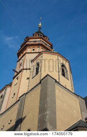 Leipzig Nikolaikirche Exterior Architecture Brick European Church Nikolai Destination Tourism Travel
