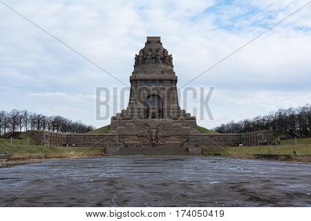Leipzig Voelkerschlachtdenkmal Monument Battle Military Tower Destination Sights City Germany Europe
