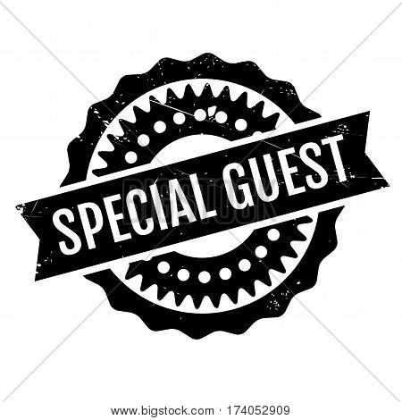 Special Guest rubber stamp. Grunge design with dust scratches. Effects can be easily removed for a clean, crisp look. Color is easily changed.