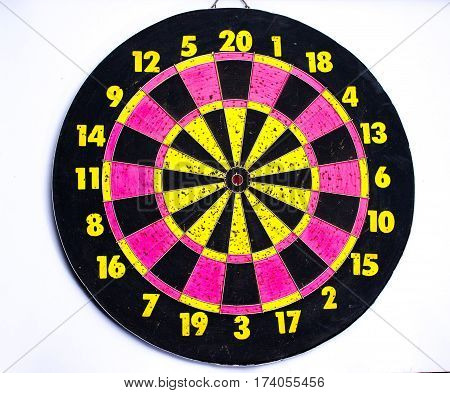 aim of target dart board to goal, business concept to goal  background