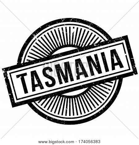 Tasmania rubber stamp. Grunge design with dust scratches. Effects can be easily removed for a clean, crisp look. Color is easily changed.