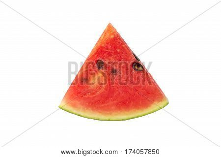 Close up of fresh slice watermelon on white background