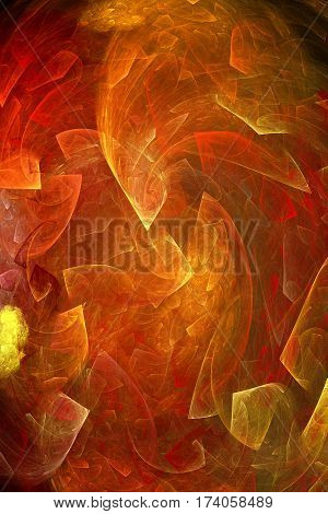 illustration computer graphic with scene of the pattern of the abstract amber background