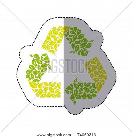 green symbol reuse, reduce and recycle icon, vector illustraction design
