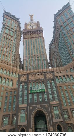 Photo of the MECCA SAUDI ARABIA september 2016 Al Safwah Tower also known as the Mecca Royal Hotel Clock Tower.