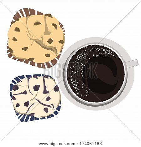 coffee bakery top view , coffee icon set