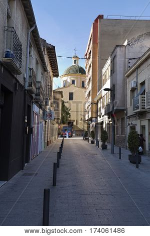 View Of A Street In The Municipality San Vicente Del Raspeig .