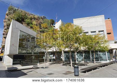 View Of The Vertical Garden Of Six Floors In San Vicente Del Raspeig