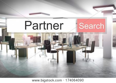 websearch partner red search button modern office 3D Illustration